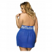 Blue Sexy Plus Size Camisole and Thong
